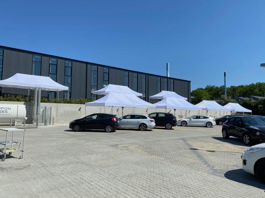 Udlejning af push up telte flex tents