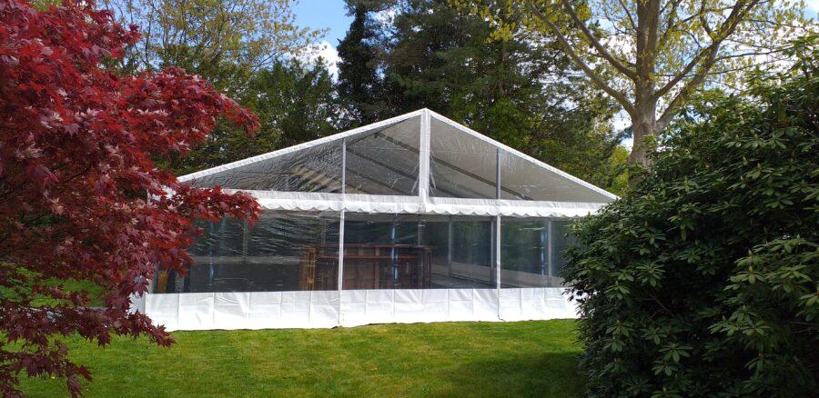gennemsigtige panorama telte glas udlejes