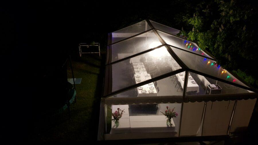 Panorama glas telte udlejes